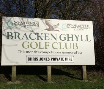 Monthly sponsor sign Chris Jones Private Hire